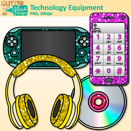 Headphone clipart ipod headphone Clipart Art with collection Technology
