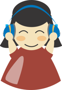 Headphone clipart large Clip art Girl With Girl