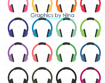Headphone clipart listening cent And Headphones DOWLOAD Etsy Commercial