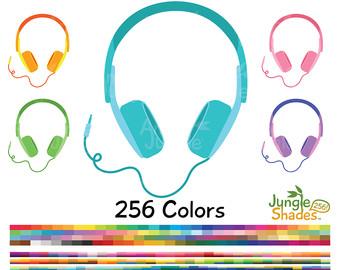 Headphone clipart listening cent Stickers Earphones Clipart Headset Listen