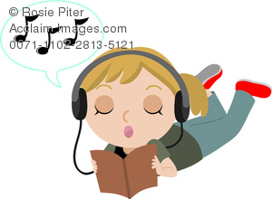 Headphone clipart emoticon Girl listening music Listening Teen