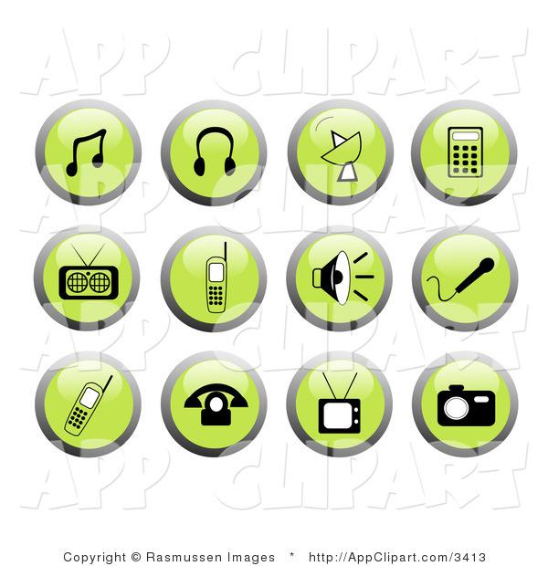 Headphone clipart mp3 player Art Notes Clip Headphones Green