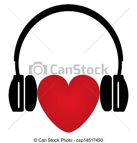 Headphone clipart music heart Heart Clipart Headphones Clipart Headphones