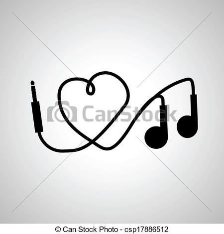 Headphone clipart music heart Music headphones I Clip I