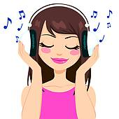Headphone clipart music listening Clip Art Free Royalty set