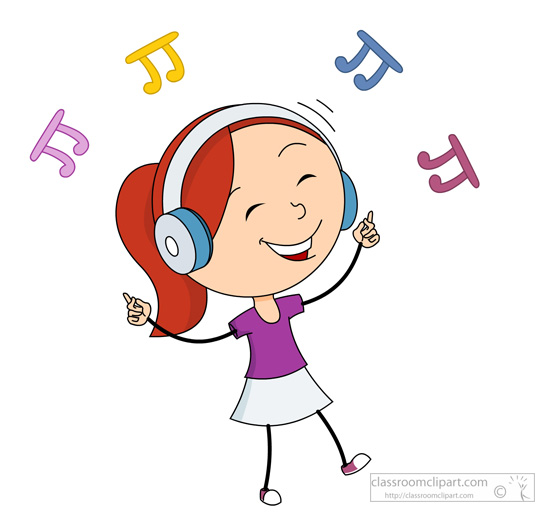 Danse clipart music and dance For Size: girl Results listening