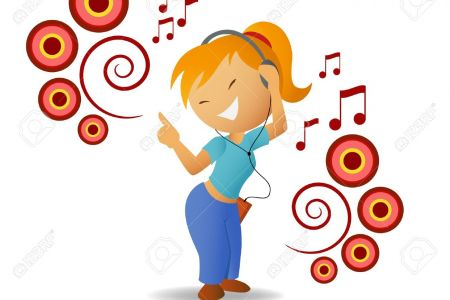 Headphone clipart music listening A smiley music listening