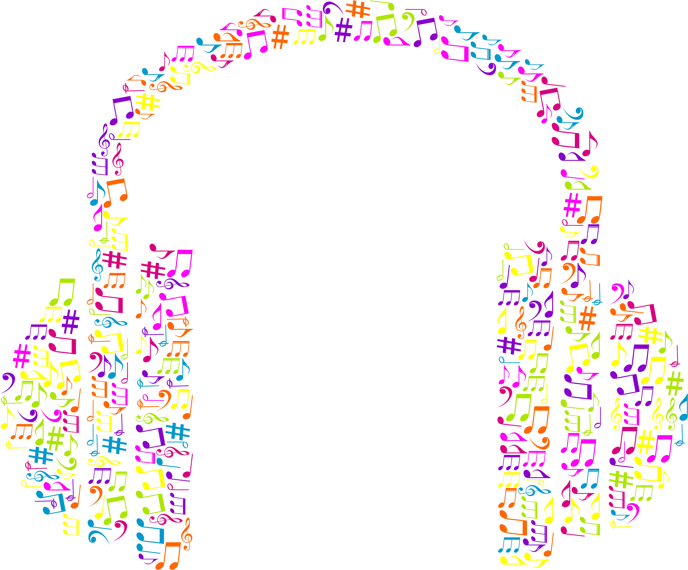 Headphone clipart music note Musical Notes No Background No