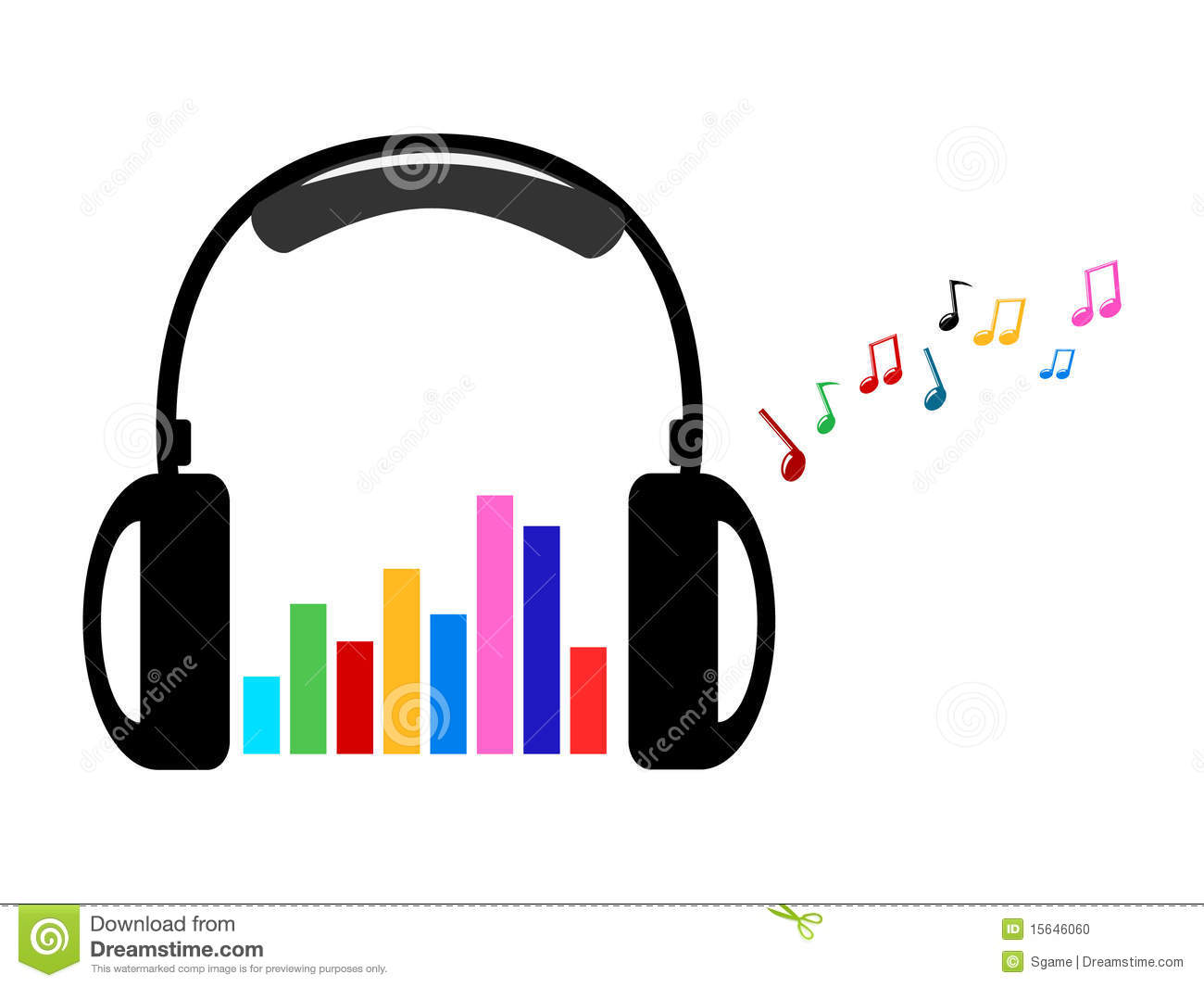 Headphone clipart music note Panda Free Images Notes Music