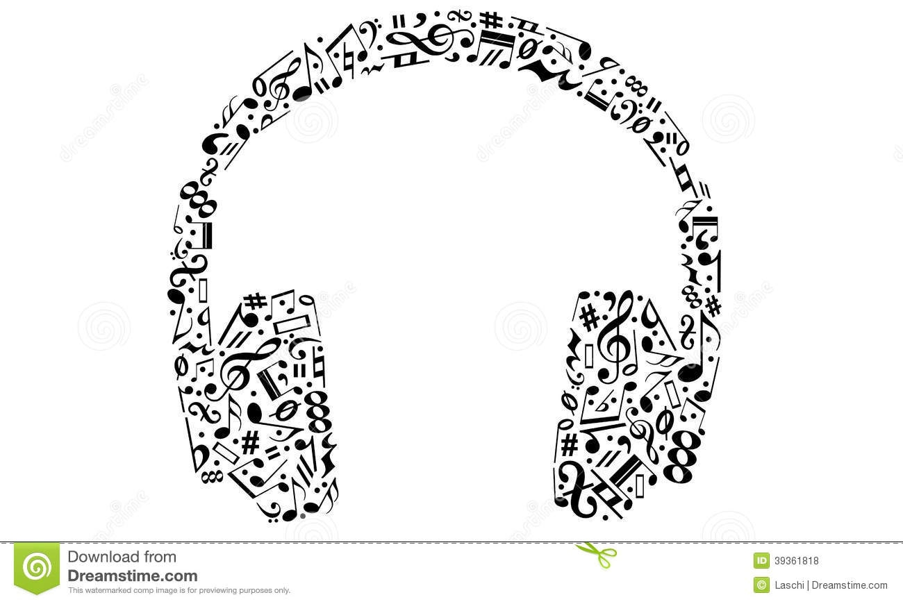 Headphone clipart music note With Music clipartsgram com Clipart