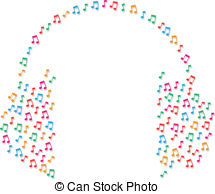 Headphone clipart music note Of Music Background Small Headphones