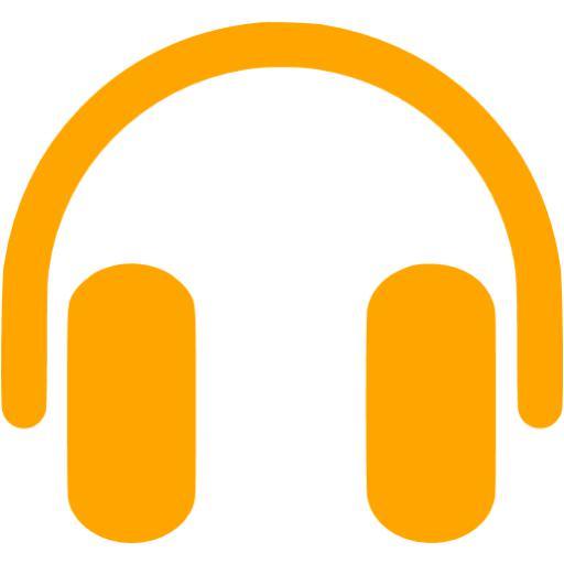 Headphone clipart orange Icon Orange Free orange headphones
