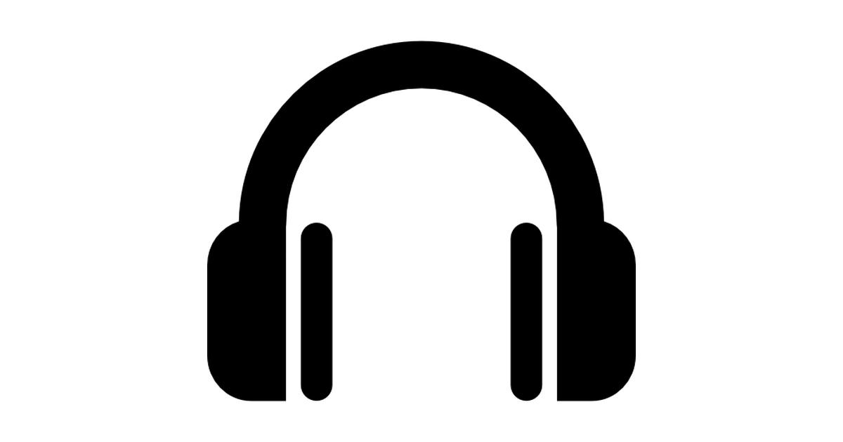 Headphone clipart outline Free music  Headphone symbol