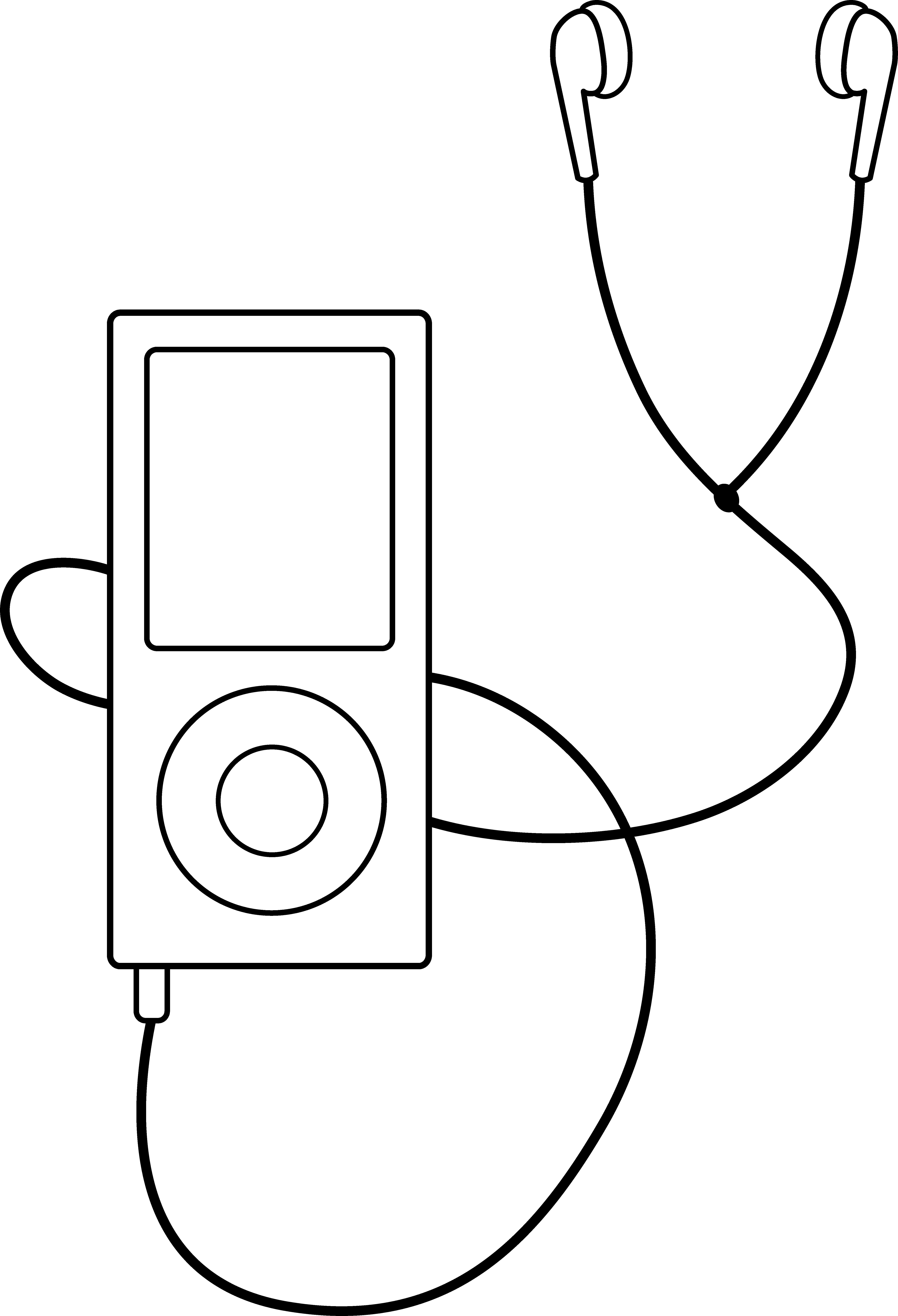 Headphone clipart outline And Clipart Panda Listening Ear