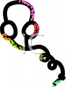 Headphone clipart outline Outline of Headphones Clipart Picture: