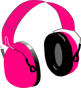 Headphone clipart pink headphone Clip com Simones royalty vector