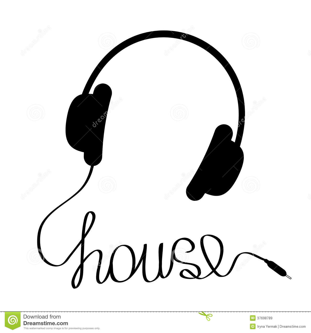 Headphone clipart podcast Headphones Turn clip art Merch