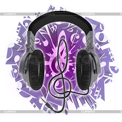 Headphone clipart purple Of in Images Andrey Photos