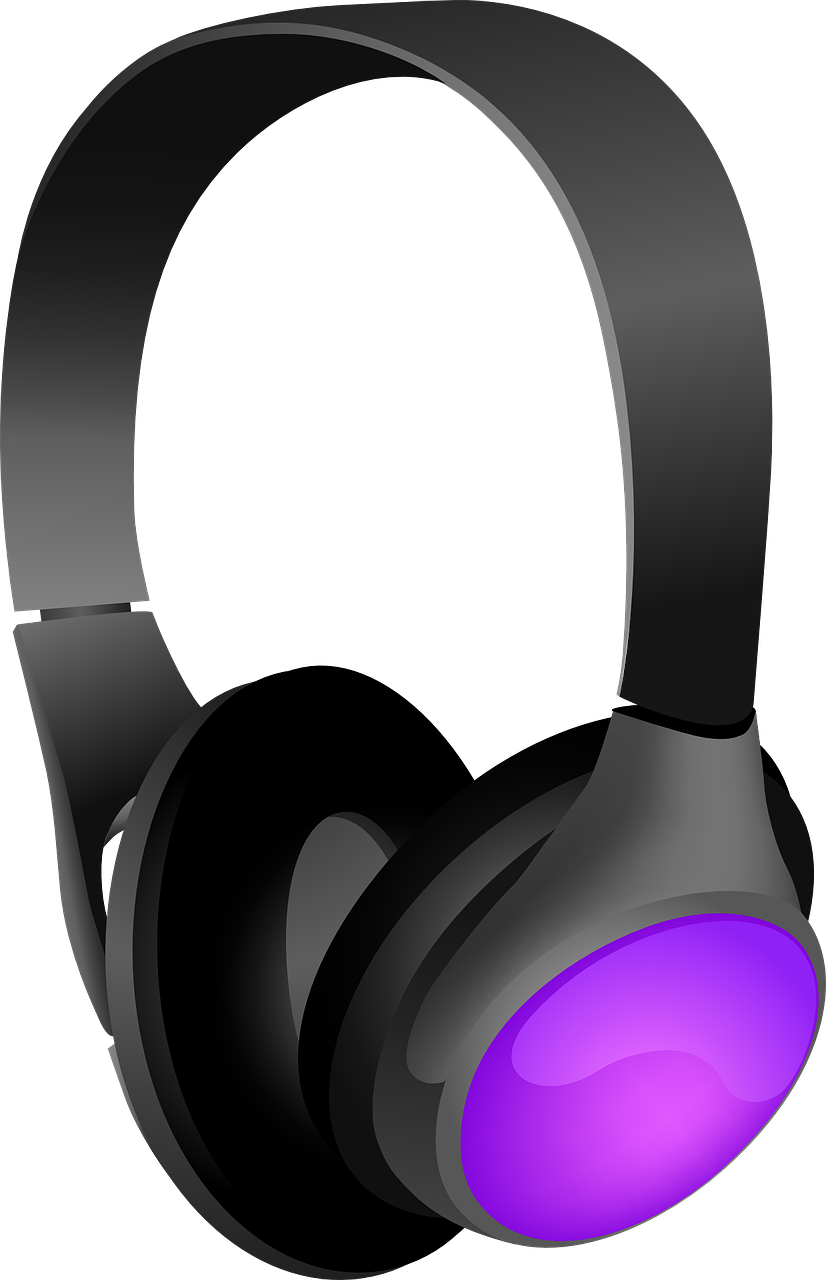 Headphone clipart purple Use headset4 Headphones Free Free