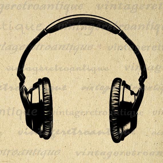 Headphone clipart retro Art High Download Printable Image