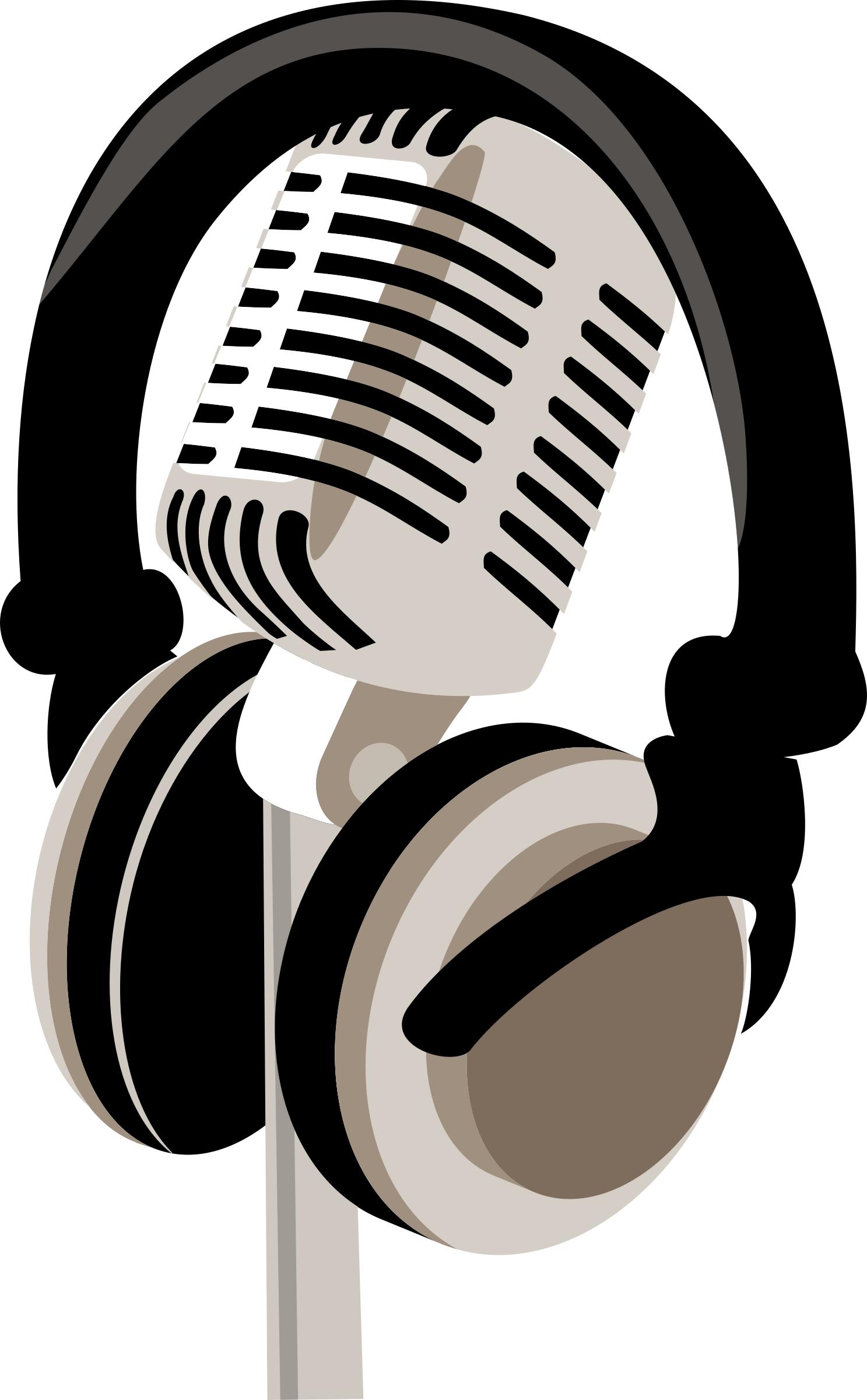 Headphone clipart retro And microphone retro headphones Clipart
