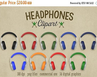 Headphone clipart retro File digital 300 graphics music