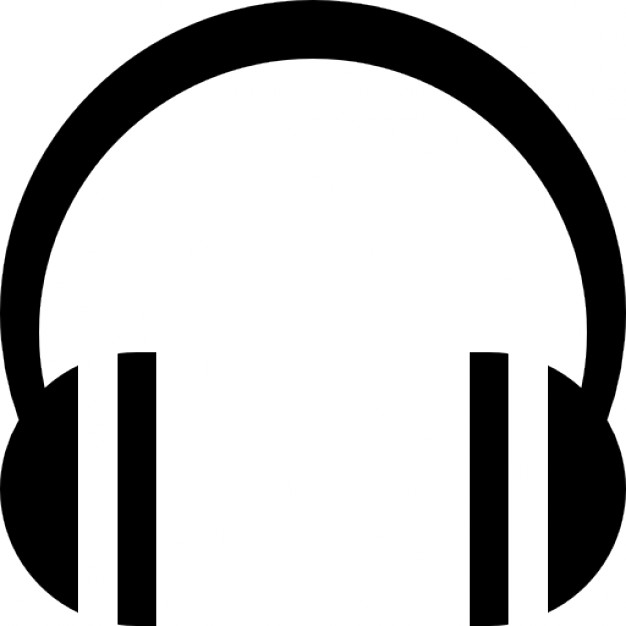 Headphone clipart side 40301  striped Vectors png