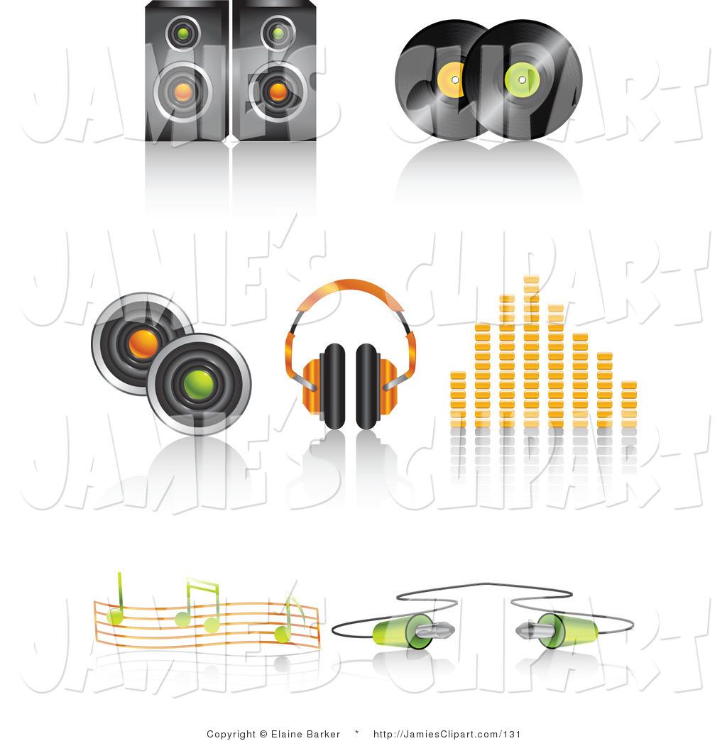 Headphone clipart speaker #4