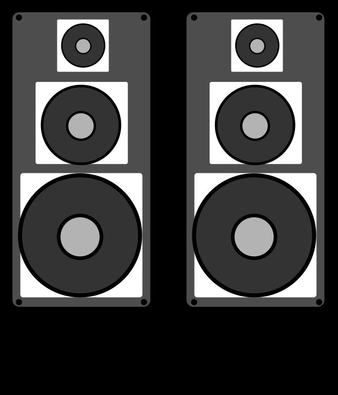 Headphone clipart speaker #6