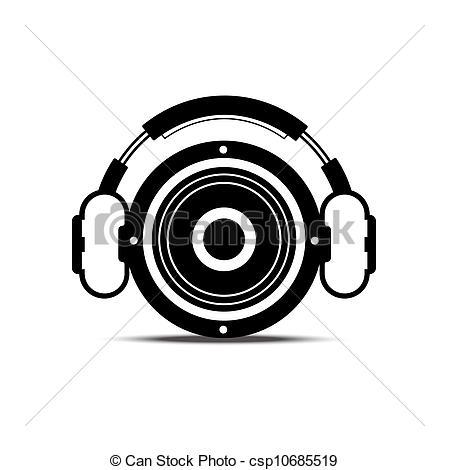 Headphone clipart speaker #3