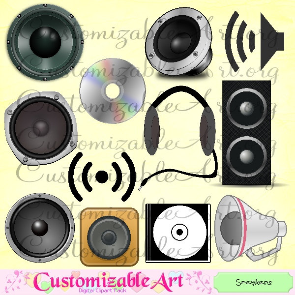 Speakers clipart loudspeaker Clip Graphics from Case DVD