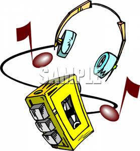 Headphone clipart tape player Portable and Clipart A Headphones