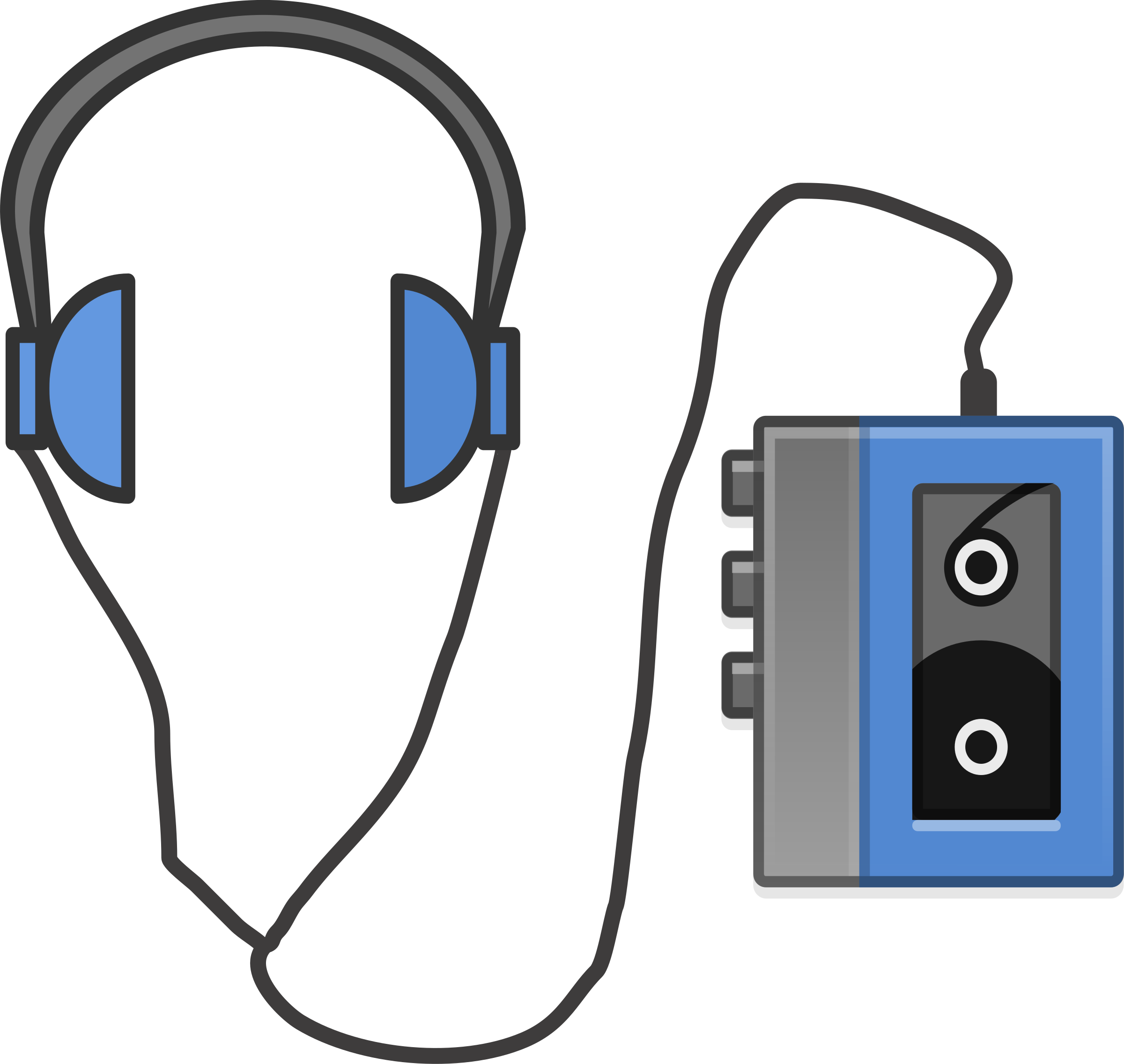Headphone clipart tape player Portable with Headphones Headphones Clipart