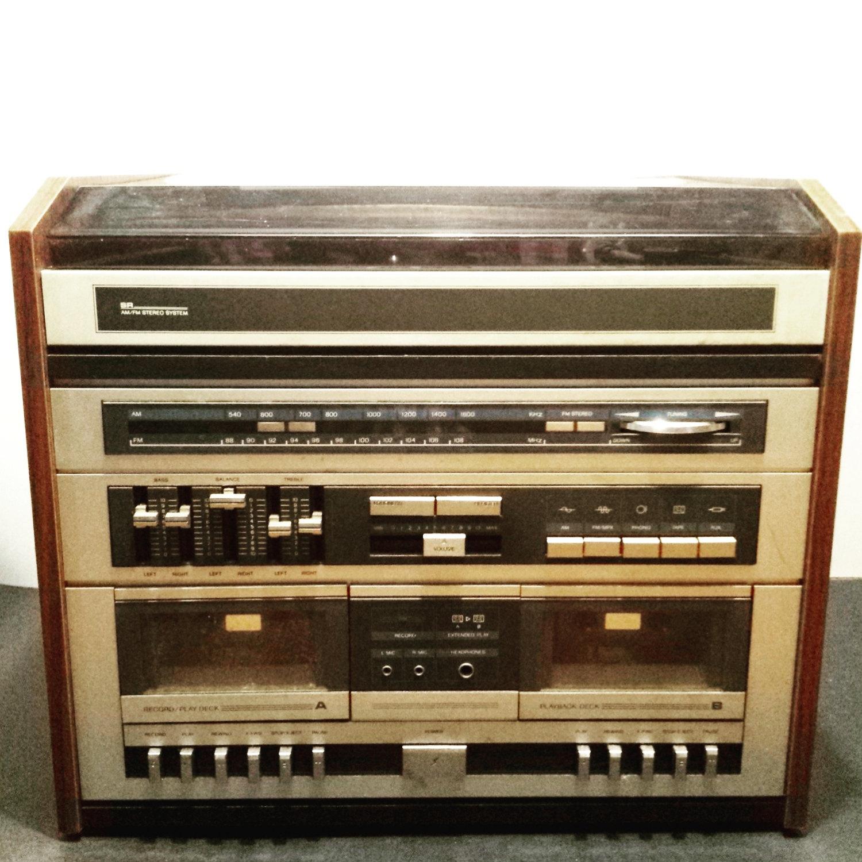 Headphone clipart tape player Vintage Cassette tape microphone cassette