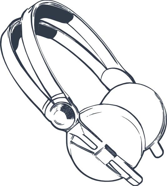 Headphone clipart vector Vector in Computer Headphones