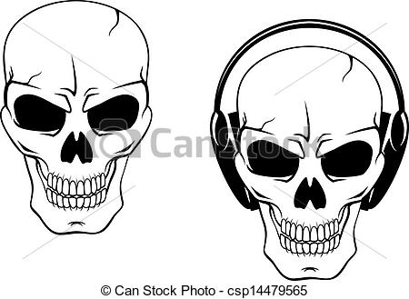 Headphone clipart vector Isolated on of Danger Vector