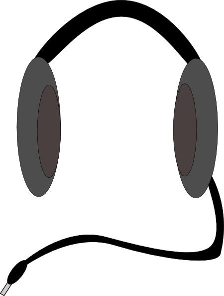 Headphone clipart vector Open office clip art svg