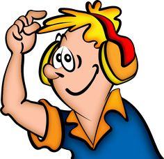 Headphone clipart work Construction Construction people Cartoon Workers