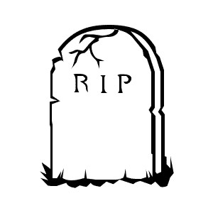 Tombstone clipart plain 2 Clip Art ClipartAndScrap Headstone