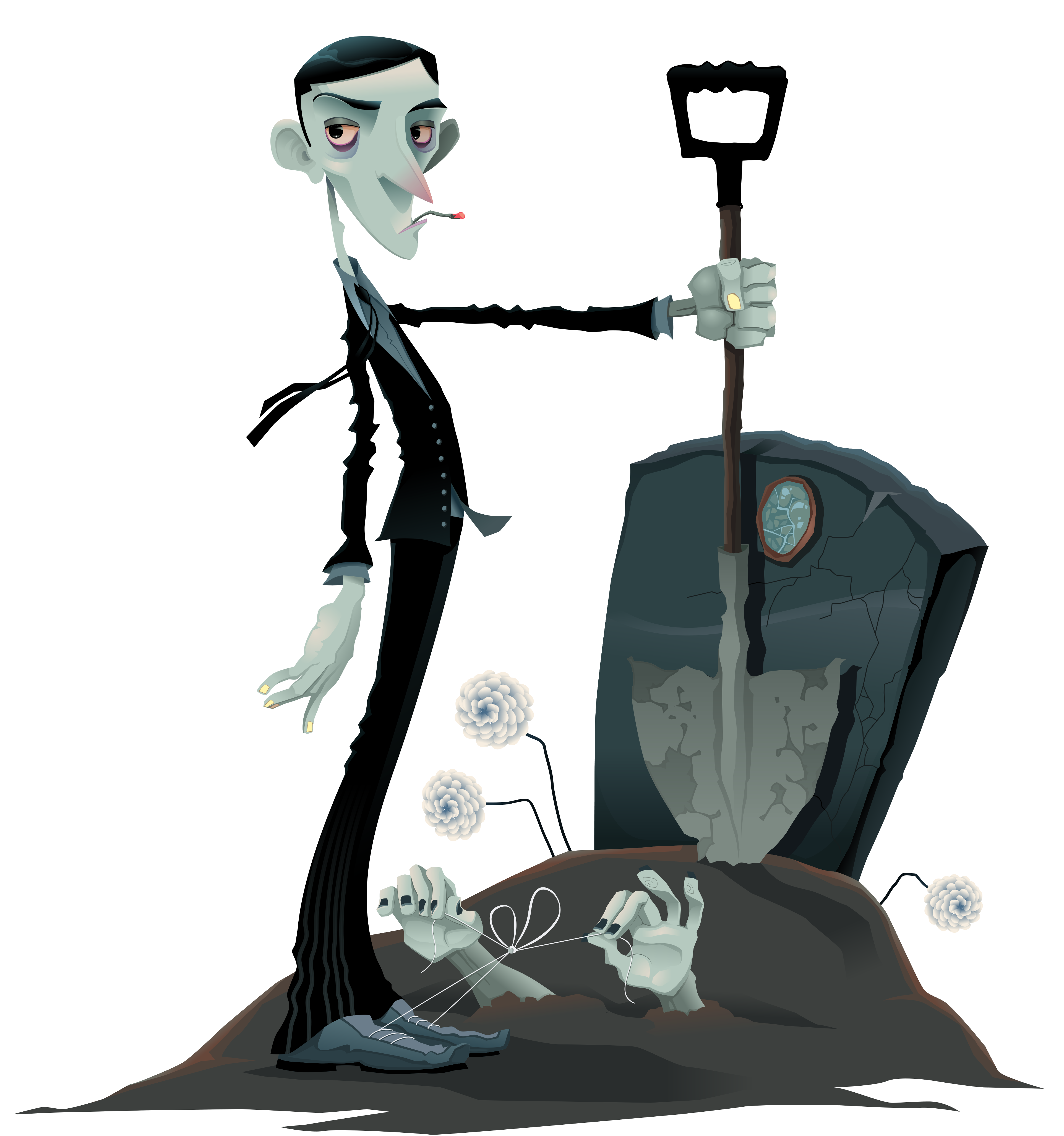 Tombstone clipart transparent Zombie Halloween Clipart and PNG