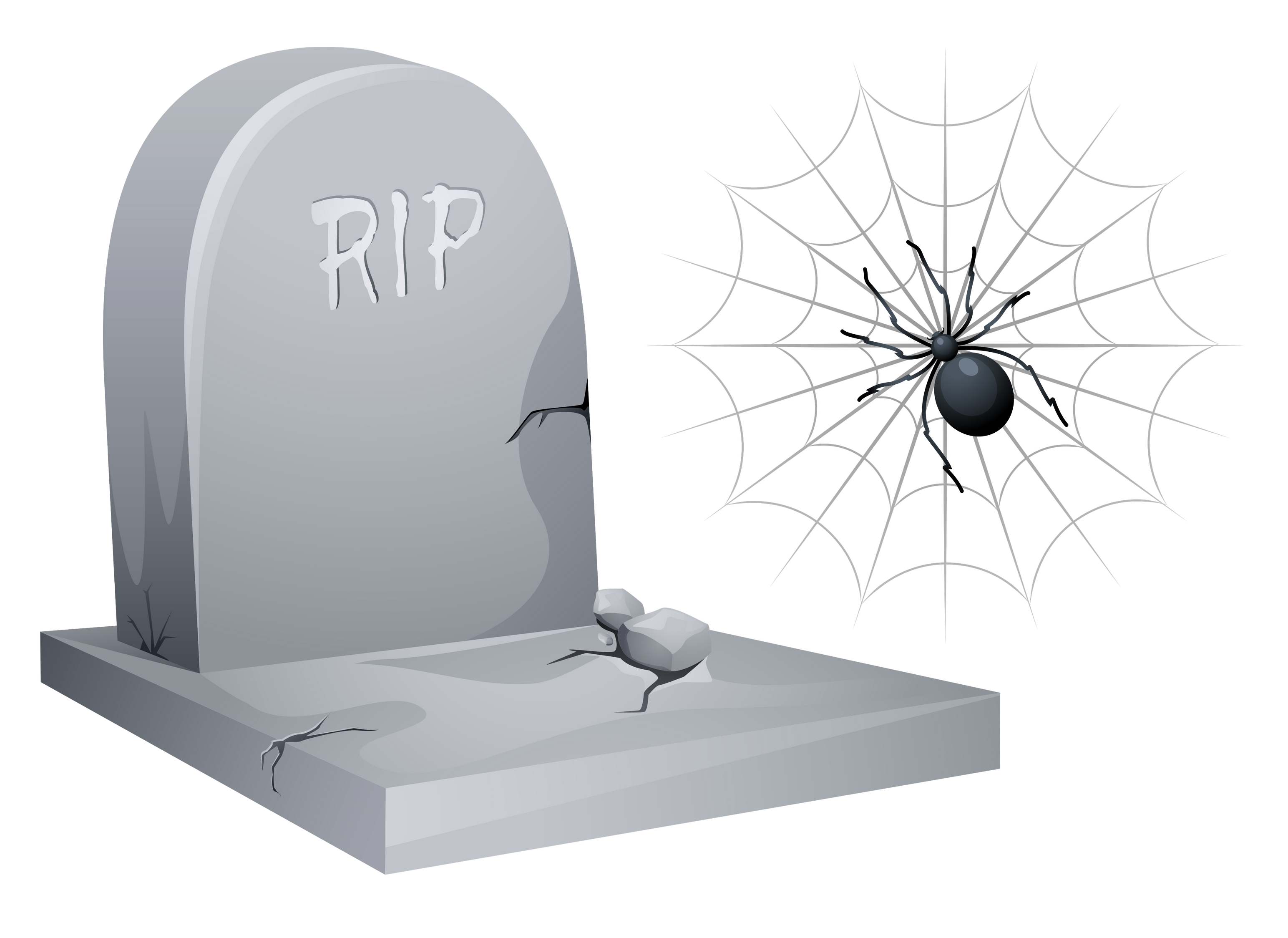 Tombstone clipart halloween tombstone Spider Clipart RIP Tombstone Gallery