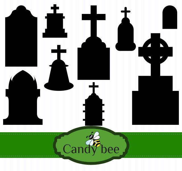 Cemetery clipart silhouette / etsy images · Pinterest