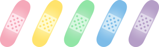 Healing clipart bandage Clip Five Art Bandages Colorful
