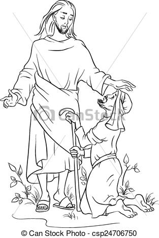 Healing clipart black and white Lame a Clipart Christian healing