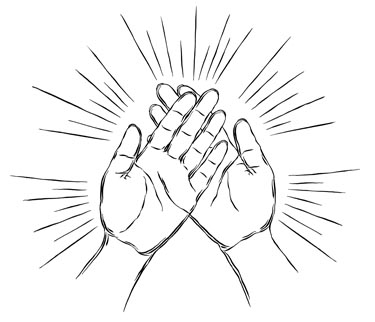 Healing clipart black and white #2
