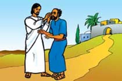 Healing clipart blind eye Leraar The He Bijbelverhalen eyes