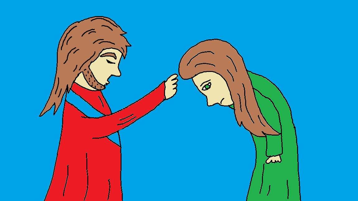Healing clipart blind woman Jesus Miracles  Of