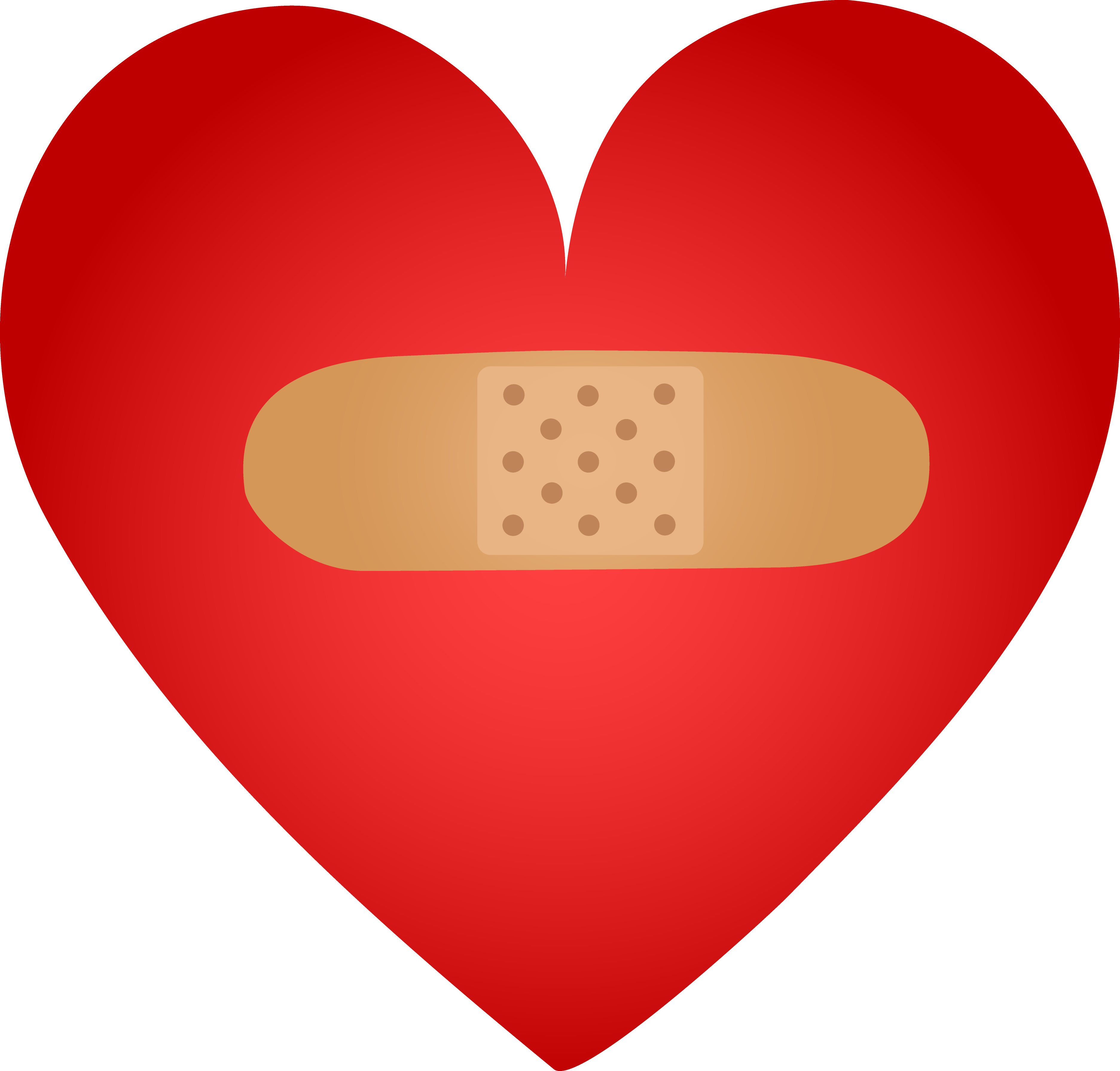 Healing clipart broken heart Aid Bandaid With Band With