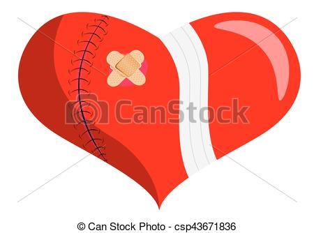 Healing clipart broken heart Broken csp43671836 of broken a
