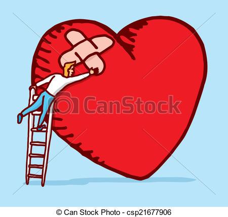 Healing clipart broken heart Of broken Vector Clipart a